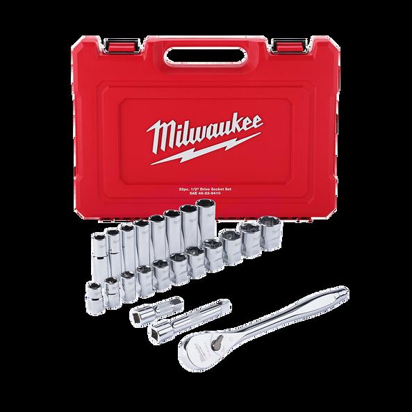 "1/2"" Drive 22PC SAE Socket Wrench Set, , hi-res"