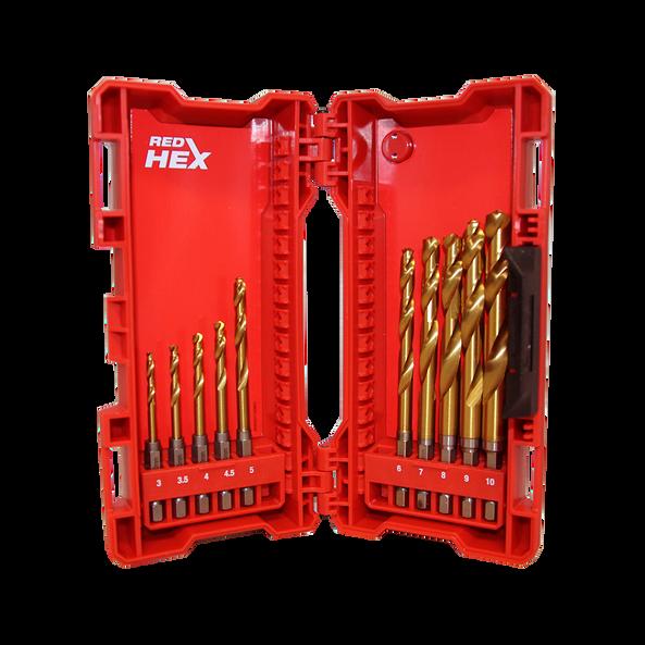 SHOCKWAVE™ Red Hex™ Titanium 10 Pce Kit