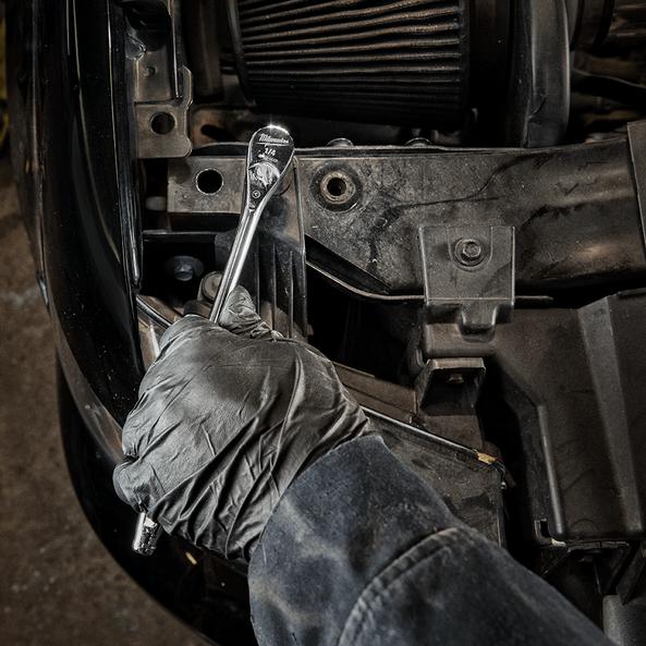 """1/4"""" Drive, Fixed Head Ratchet 229mm (9""""), , hi-res"""