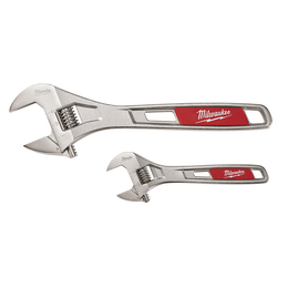 "2 Pc. 152mm (6"") & 254mm (10"") Adjustable Wrench Set"