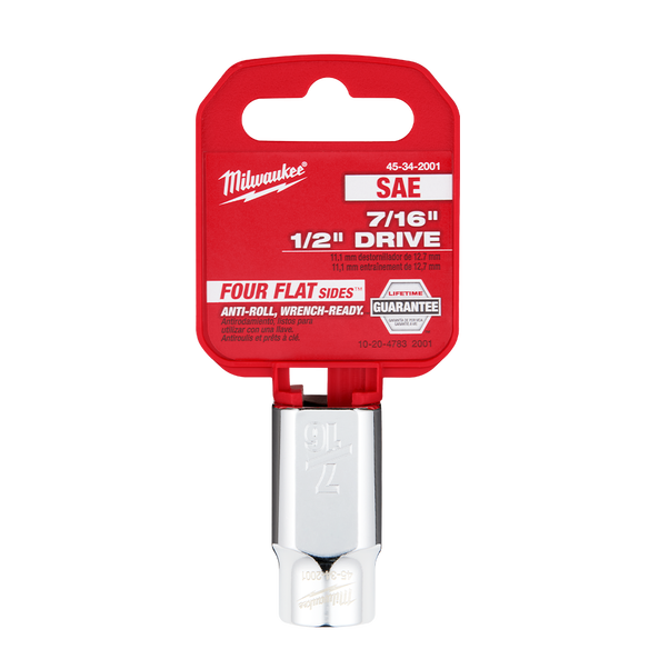 "1/2"" Drive 7/16"" SAE Standard 6-Point Socket, , hi-res"