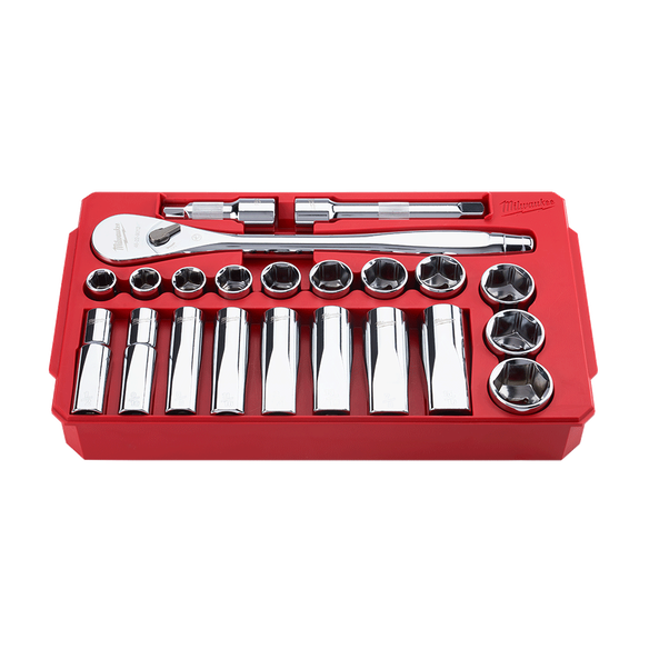 "1/2"" Drive 22PC SAE Socket Wrench Set, , hi-res"