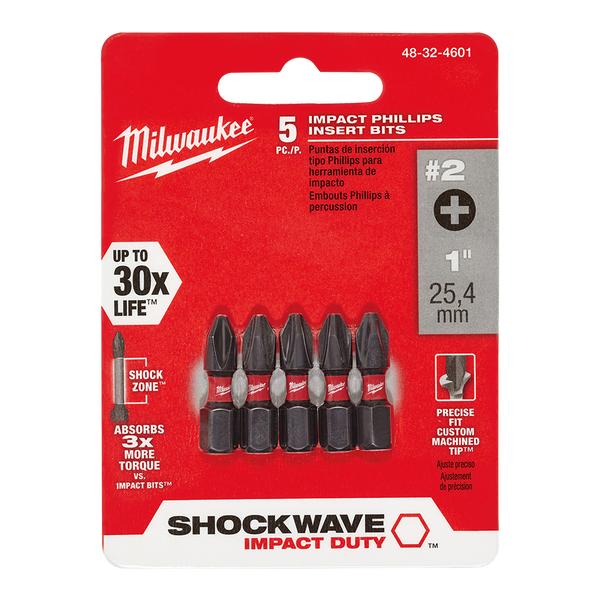 SHOCKWAVE™ Insert Bit Phillips #2 5Pk
