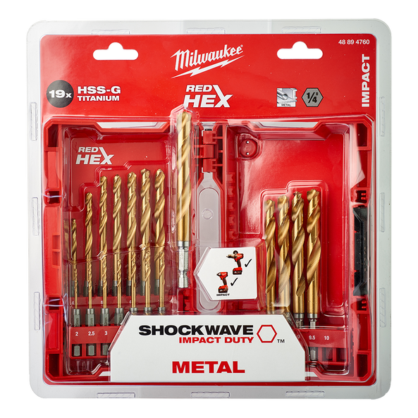 SHOCKWAVE™ Red Hex™ Titanium 19 Pce Kit