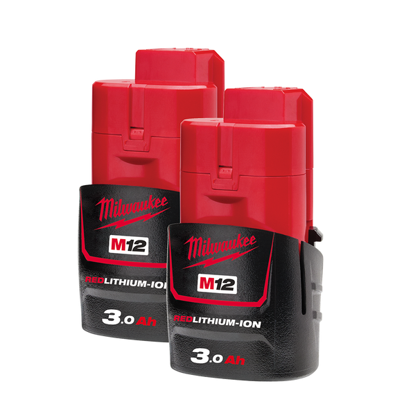 M12™ REDLITHIUM™-ION 3.0Ah Battery Twin Pack