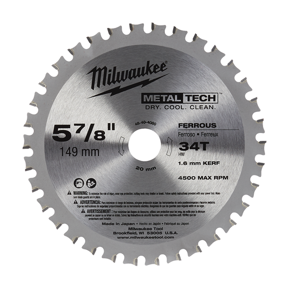 "149mm (5-7/8"") 34 Teeth Metal Saw Blade - Ferrous Metals"