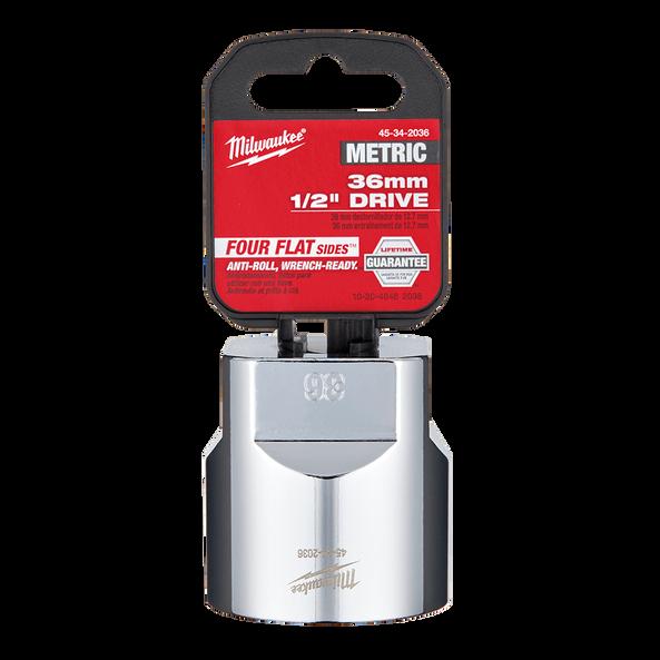 "1/2"" Drive 36mm Metric Standard 6-Point Socket, , hi-res"