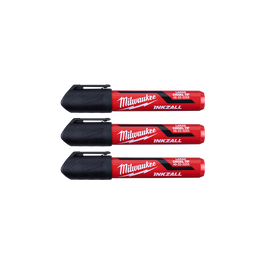 INKZALL™ 3PC Large Chisel Tip Black Marker