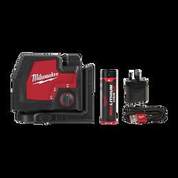 REDLITHIUM™ USB Rechargeable Cross + 2 Plumb Laser Kit