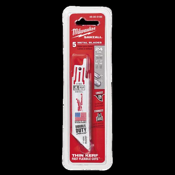 100mm 24 TPI Thin Kerf SAWZALL™ Blades (5 Pk)