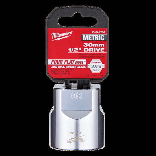 "1/2"" Drive 30mm Metric Standard 6-Point Socket, , hi-res"