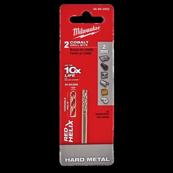 Red Helix™ Cobalt Drill Bit 2mm 2Pk