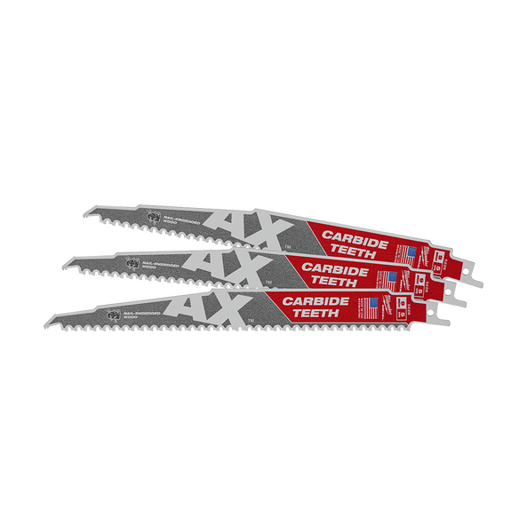 230mm 5TPI The AX™ with Carbide Teeth SAWZALL® Blade (3Pk)
