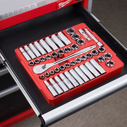 """1/2"""" Drive 47PC Metric and SAE Socket Wrench Set"""