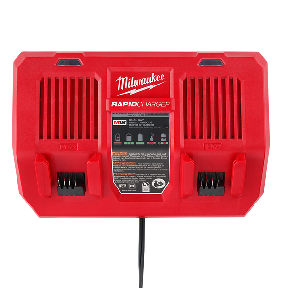 M18™ Dual Bay Simultaneous Rapid Charger, , hi-res