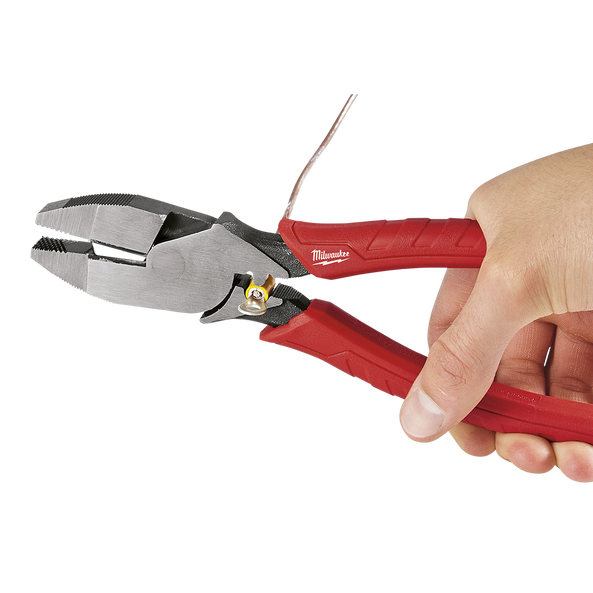 "228mm (9"") High Leverage Lineman's Pliers W/Crimper"