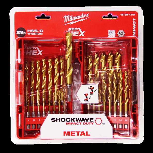 SHOCKWAVE™ Red Hex™ Titanium 29 Pce Kit