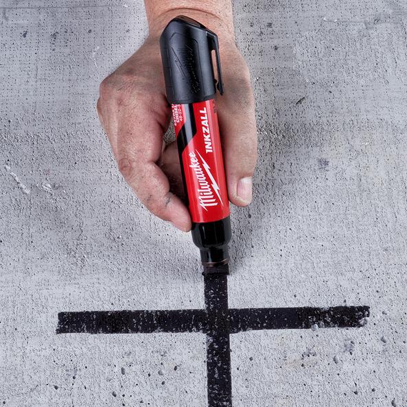 INKZALL™ Black Extra Large Chisel Tip Marker, , hi-res