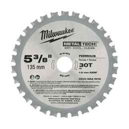 "5-3/8"" (135mm) 30 Teeth Ferrous Metal Circular Saw Blade"