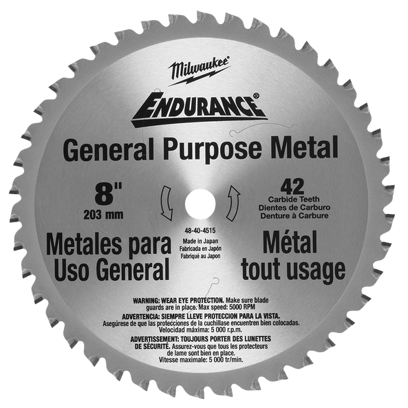 "203mm (8"") 42T General Purpose Metal Blade, , hi-res"