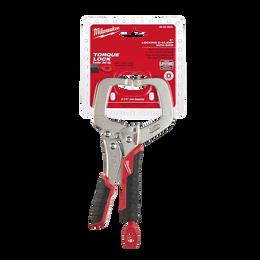 152mm TORQUE LOCK™ C-Clamp Locking Pliers Regular Jaws w/ Durable Grip