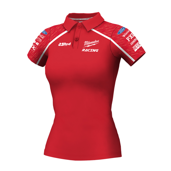 2019 Milwaukee Racing Red Polo Women's, , hi-res
