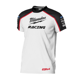 Milwaukee Racing White Tee Men's