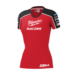 Milwaukee Racing Black/ Red Tee Women's
