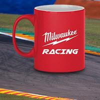 Milwaukee Racing's range of Drink Bottles, Mugs and accessories